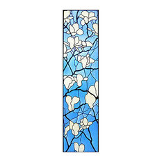 Magnolia Blossoms Art Glass Panel