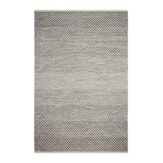 Fab Habitat Indoor Flatweave Cotton Rug, Aurora, Gray, 5'x8'