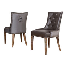 Faux Leather Dining Room Chairs | Houzz