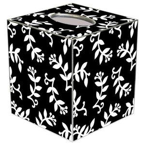 Tb330 Black Amp Gold Asian Toile Tissue Box Cover