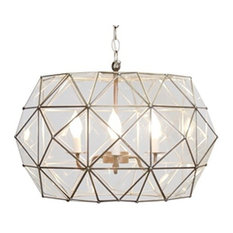 Worlds Away Rozz Chandelier, Clear