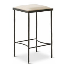 Ivan Industrial Loft Muslin Upholstered Iron Counter Stool  Bar Stools and Home Minimalist Houzz