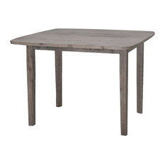 Boraam Boulder Dining Table In Barnwood Wire-Brush