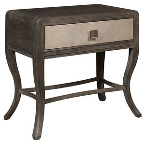 Primavera Leg Nightstand with Drawer in Multicolor