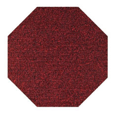 Color World Collection Kids Favorite Indoor Outdoor Area Rugs, Red, 5' Octagon