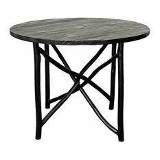 npd furniture ashton branch dining table quot black dining tables: 40 inch round pedestal dining table