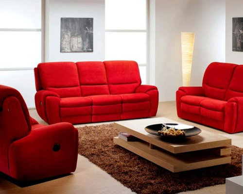 Morena Living Room Furniture Sofa Set With Recliners By ROM, Belgium    Living Room Furniture