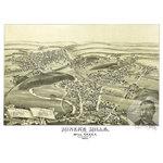 "Ted's Vintage Art - Old Map of Miner's Mills Pennsylvania 1892, Vintage Map Art Print, 12""x18"" - Old Map of Miner's Mills, Pennsylvania - 1892"