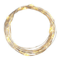 TORCHSTAR - Battery Operated LED Wire Starry Starry String Lights, Warm White, 20' - Holiday Lighting