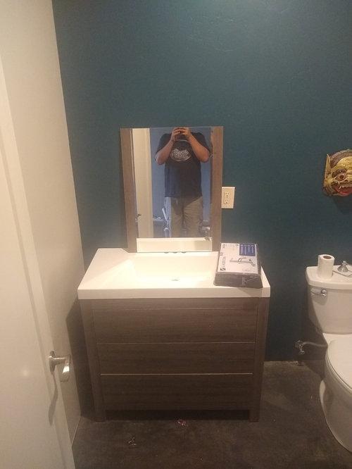 Bathroom Vanity Against The Side Wall Or 2 Gap
