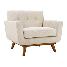 Engage Upholstered Fabric Armchair, Beige