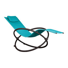 Orbital Lounger, Single, True Turquoise