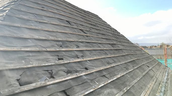 Roofers Dublin - Removing of Asbestos Slates on a Roof in Ranelagh, Dublin 6.