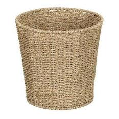 Household Essential - Household Essentials ML-5692 Seagrass Waste Bin - Wastebaskets
