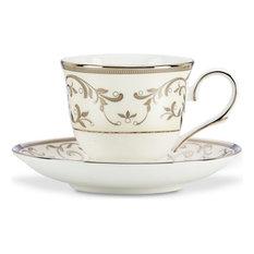 Opal Inn Silver Plate Dinnerware Cup & Saucer Set