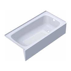 """Kaldewei 155 Cayono 60"""" Three Wall Alcove Enameled Steel Soaking Tub with Right"""