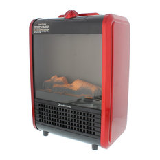 Comfort Zone Mini Ceramic, Electric Fireplace Stove | Red