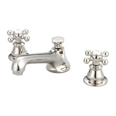 bathroom facuets water creation american th century classic widespread lavatory faucet w drain cross handles