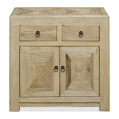 Natural Elmwood Chinese Ming Cabinet by China Furniture and Arts
