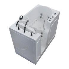 26 x 46  Whirlpool & Air Jetted Walk-In Bathtub, Left Drain Configuration