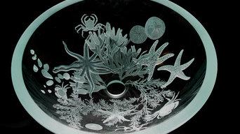 engraved tidepool sink