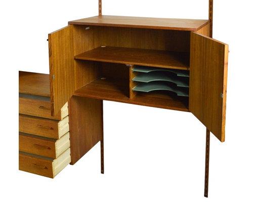 mid century danish teak shelving unit by kai kristiansen bookcases