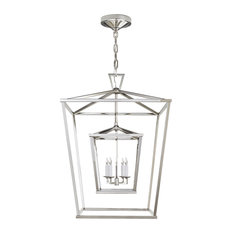 E. F. Chapman Darlana Large Double Cage Lantern Polished Nickel