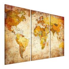 """Antique Travel"" Cork Pinboards, 80x120 cm, Set of 3"