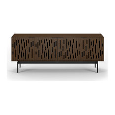 Code Quad Width Console by BDI, Toasted Walnut