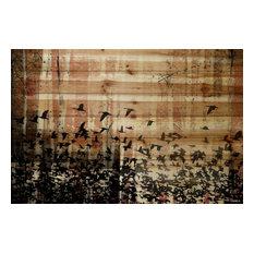 Parvez Taj Aspen Wood - on Pine Wood Art Print on Natural Pine Wood