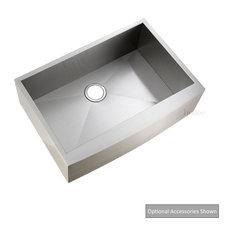 Luxier Stainless Steel Farmhouse Apron Single-Bowl Sink, Afs30-18z