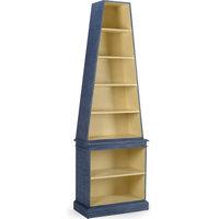 Regency Bookcase, Blue, Cream