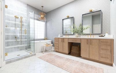 Bathroom of the Week: Airy, Boho Look and a Wood Vanity