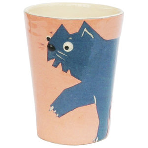 Long-Haired Cat Cups, Set of 2
