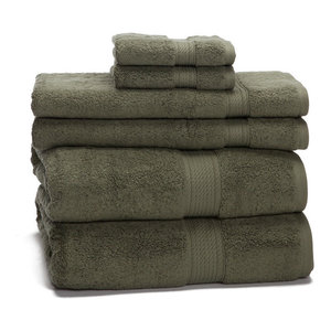 900 GSM Towel Set Egyptian Cotton Towels, Forest Green