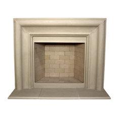 Nova Cast Stone Fireplace Mantel, Buff