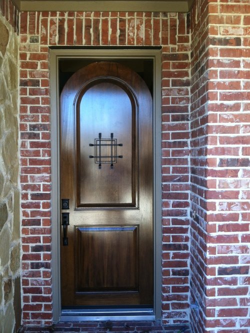 Arched Entry Door Installation In Square Door Frame