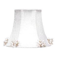 Pearl Burst Chandelier Shade, White
