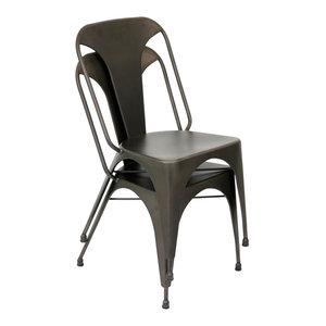 Lumisource Austin Dining Chair, Set Of 2, Antique Finish