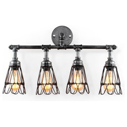 Industrial Bathroom Vanity Lighting by Houzz