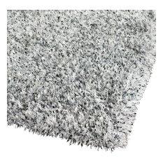 Shag Malibu Shag Area Rug, Silver, 8'x10'
