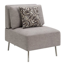 Furniture of America Sabi Contemporary Modular Accent Chair in Gray