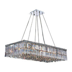 Cascade 16 Light Large Chandelier In Polished Chrome With Clear Crystal