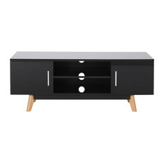 Abby Mid Century Faux Wood TV Stand For TVs Up To 50-inch