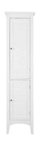 Slone Linen Tower With 2 Shutter Doors - Transitional - Bathroom Cabinets And Shelves - by ...