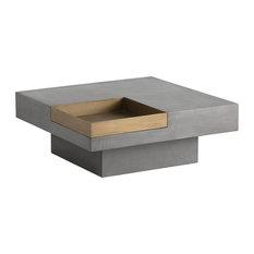 Sunpan 103312 Quill Coffee Table Square by vidaXL