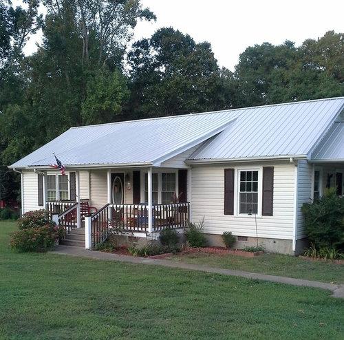 Help Light Grey Metal Roof Beige Siding