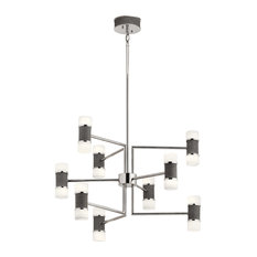 Vey Chandelier in Polished Nickel