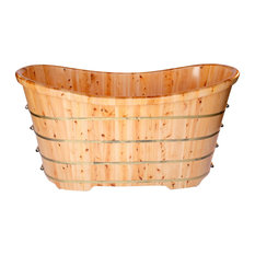 "63"" Free Standing Cedar Wood Bath Tub"