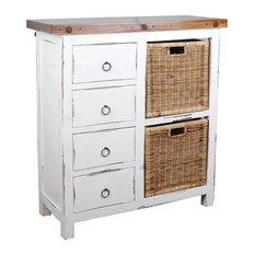 Basket Cabinet, Whitewash
